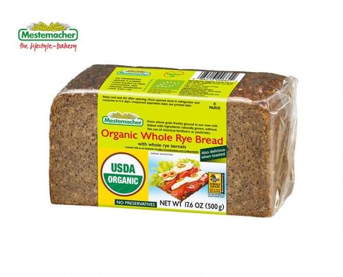Mestemacher Organic Whole Rye Bread 500g