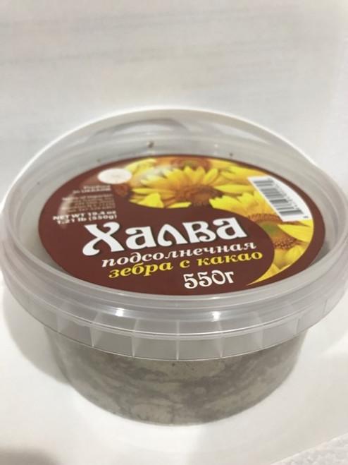 Halva Sunflower zebra with cocoa 550g
