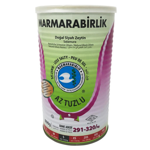 Marmarabirlik Low Salt Black Olives – 1.8lb