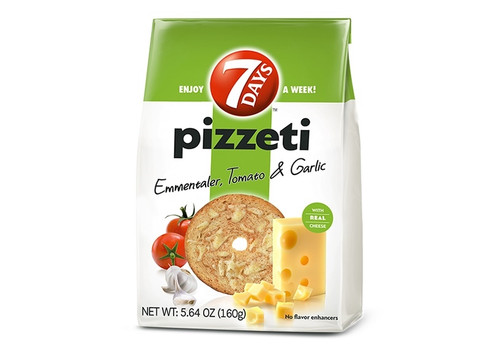 7 Days Pizzeti Emmentaler, Tomato & Garlic 160g