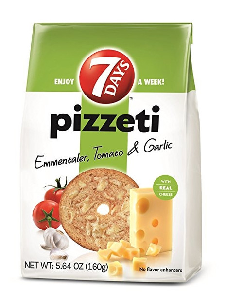 7Days Pizzeti Chips, Tomato & Garlic 80g