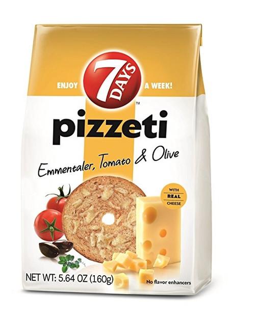 7Days Pizzeti Chips, Emmentaler, Tomato & Olive 80g