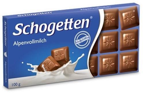 Schogetten Alpine Milk Chocolate 100g