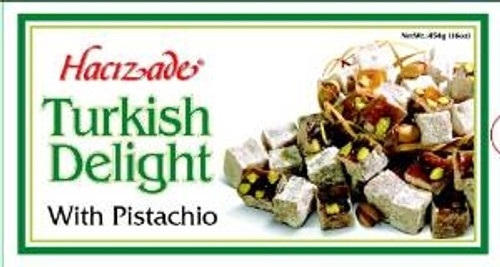 Hacizade Turkish Delight with Pistachio 454g