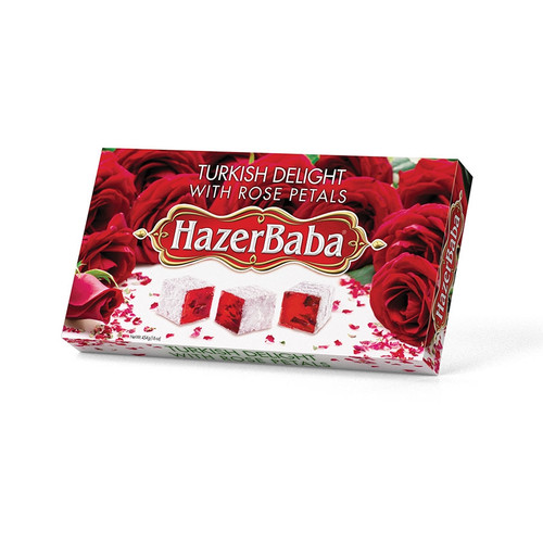 HazerBaba Turkish Delight with Rose 454g