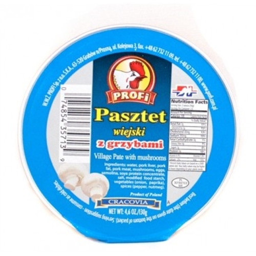 Profi Pork Village Pate with Mushrooms / Pasztet z Grzybami 130g