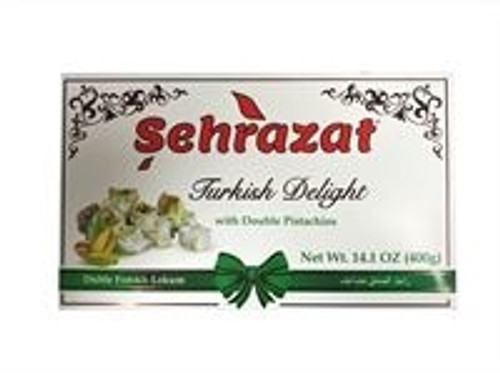 Sehrazat Turkish Delight With Double Pistachios 400gr