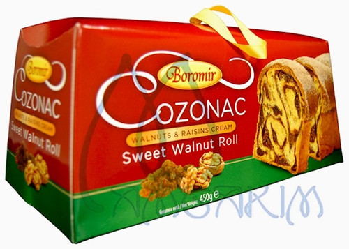 COZONAC w/ WALNUTS and RAISINS RED BOX 450g