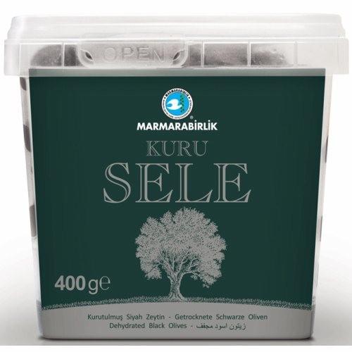 MB Dried Natural Black Olives 2XS 375gr