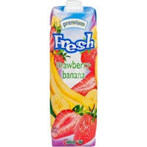 Fresh Strawberry Banana Fruit Juice 1L