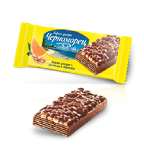 Wafer Chernomorets with Peanuts and Orange 80g