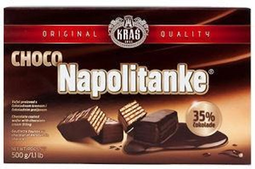 Kras Chocolate Covered Wafers Napolitanke 500g