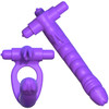 Fantasy C-Ringz Silicone Double Penetrator Rabbit By Pipedream - Purple