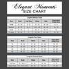 Elegant Moments Size Chart