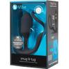 b-Vibe Snug & Tug Weighted Silicone Plug & Penis-Ring