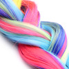 Tailz Black Silicone Anal Plug With Rainbow Pony Faux Fur Tail