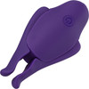 Nipple Play Nipplettes Rechargeable Vibrating Nipple Clamps By CalExotics - Purple