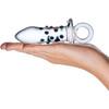 Gläs Pacifier Glass Butt Plug - Black & Clear