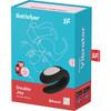 Satisfyer Double Joy Wearable Silicone Dual Stimulation App Enabled Couples Vibrator - Black
