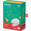Satisfyer Double Joy Wearable Silicone Dual Stimulation App Enabled Couples Vibrator - White