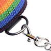 Master Series Kinky Pride Rainbow Bondage Set - Wrist/Ankle Cuffs & Collar With Leash