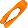 Satisfyer Candy Cane Silicone Rechargeable Mini Vibrator - Orange