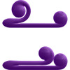 Snail Vibe Silicone Rechargeable Waterproof Dual Stimulation Science Based Vibrator - Purple