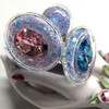 Trans Pride Sparkle Plug With Crystal Base By Crystal Delights
