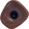 B.J. Dildo Next Generation Silicone Dual Function Dildo By Number One Laboratory - Uncut, Chocolate