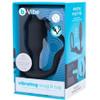 b-Vibe Vibrating Snug & Tug Weighted Silicone Plug & Penis-Ring - Medium