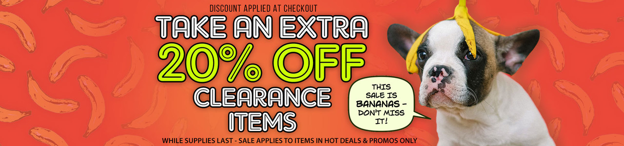 20% Off Clearance Items While Supplies Last!