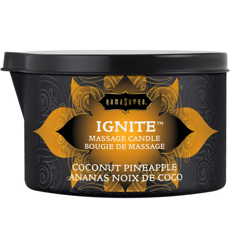 Kama Sutra Ignite Massage Oil Candle - Coconut Pineapple - 6 oz