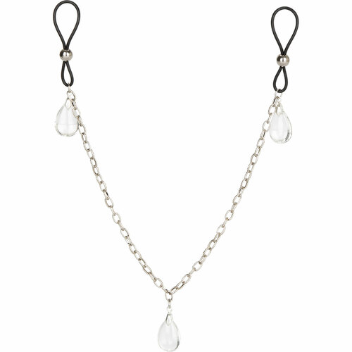 Nipple Play Non-Piercing Nipple Chain Jewelry by CalExotics - Clear