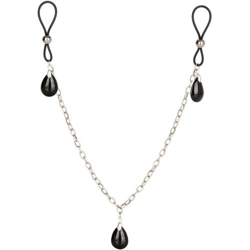 Nipple Play Non-Piercing Nipple Chain Jewelry by CalExotics - Onyx