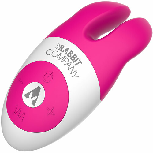 The Lay On Silicone Rabbit Vibrator by The Rabbit Company - Pink
