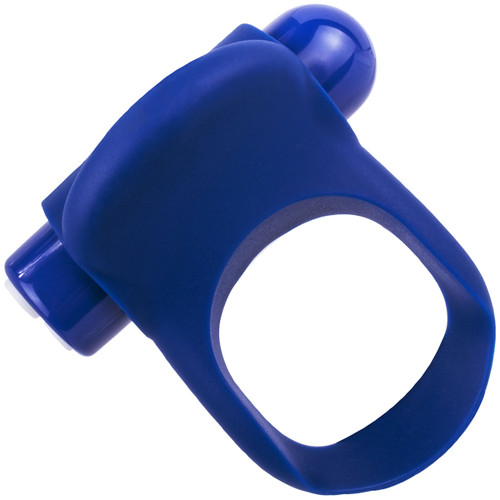 Charged You-Turn Plus Vibrating Silicone Cock Ring By Screaming O - Blueberry