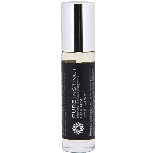Pure Instinct Black - Pheromone Cologne Oil Roll On .34 oz