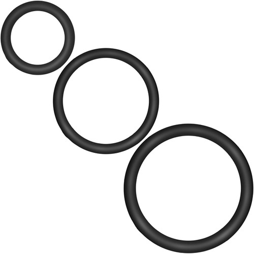 Performance VS4 Pure Premium Silicone Cock Rings By Blush Novelties - Black