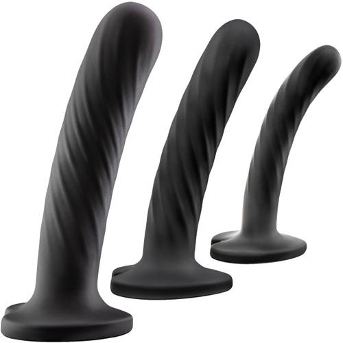 Temptasia Twist Kit - Set of Three Dildos - Black