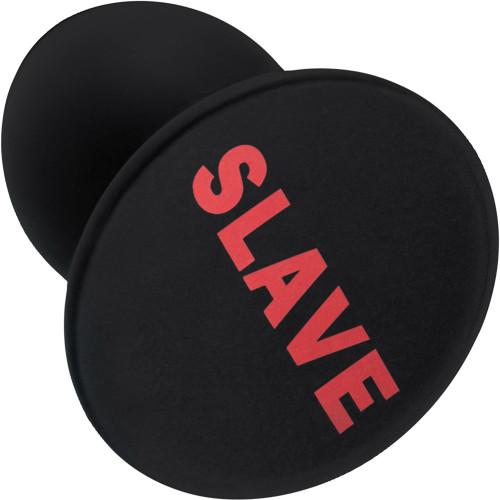 Temptasia Slave Plug Silicone Anal Plug By Blush - Black