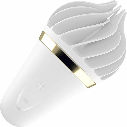 Satisfyer Sweet Treat Rotating Silicone Rechargeable Clitoral Stimulator - White & Gold