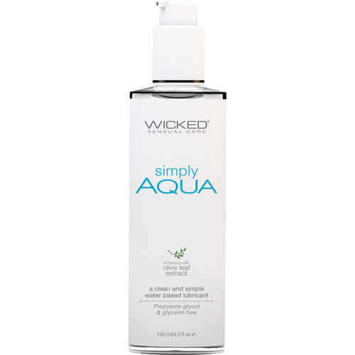 Simply Aqua Water Based Personal Lubricant With Olive Leaf Extract By Wicked Sensual Care 4 fl oz