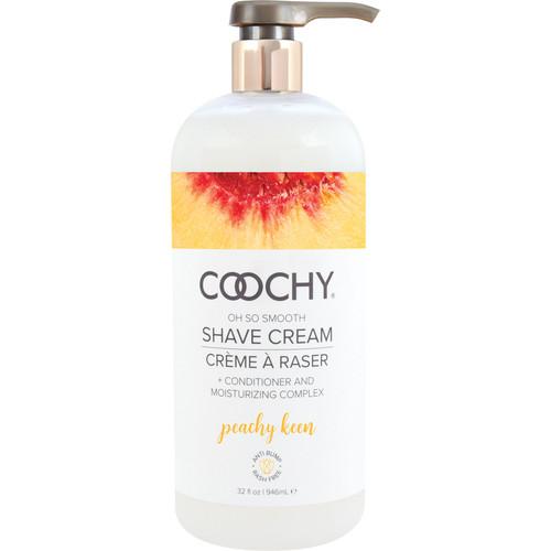 COOCHY Oh So Smooth Shave Cream - Peachy Keen 32 oz (946 mL)