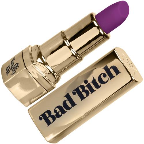Naughty Bits Bad Bitch Waterproof Rechargeable Lipstick Vibrator By CalExotics