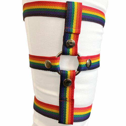 """Inclusion Rainbow Thigh Harness - Size A Fits Thighs Up To 25"""""""