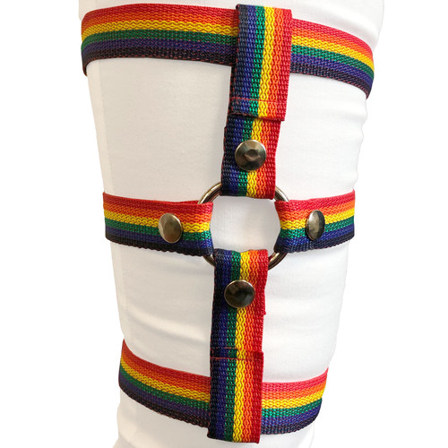 """Inclusion Rainbow Thigh Harness - Size B Fits Thighs Up To 40"""""""