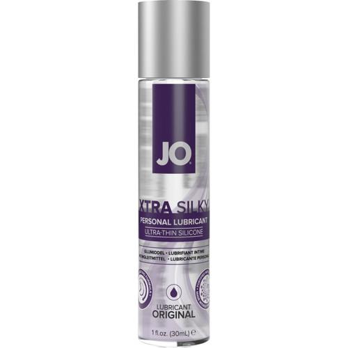 JO XTRA Silky Ultra-Thin Silicone Based Personal Lubricant 1 fl oz