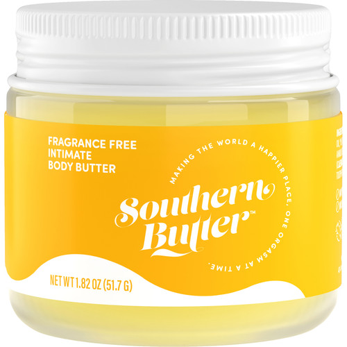 Southern Butter Body Butter Fragrance Free Oil Based Lubricant 1.82 oz Jar