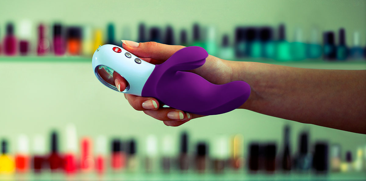 Fun Factory MISS BI Silicone Dual Stimulation Vibrator - In Hand