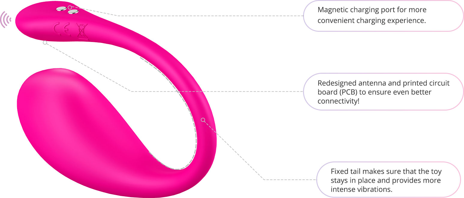 Lovense Lush 3 Bluetooth Remote Controlled Waterproof Rechargeable Silicone Vibrator - Features